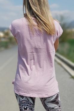 Μπλούζα βαμβακερή σε ροζ
