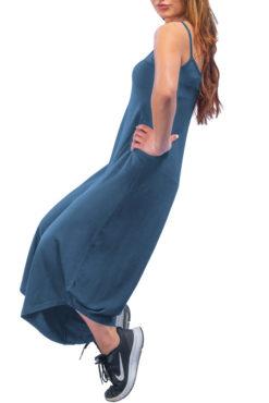 Ολόσωμη ζιπ-κιλότ με τιραντάκι μπλε ίντιγκο