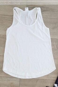 Μπλούζα φλάμα αμάνικη λευκή