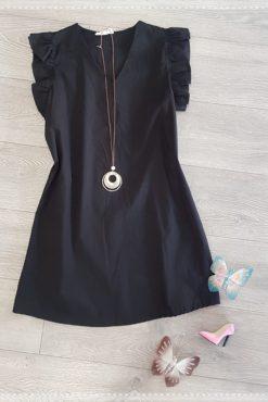 Φόρεμα σε άλφα γραμμή με βολάν στα μανίκια