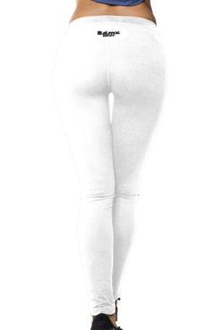 Ελαστικό γυναικείο dry fit κολάν σε λευκό χρώμα