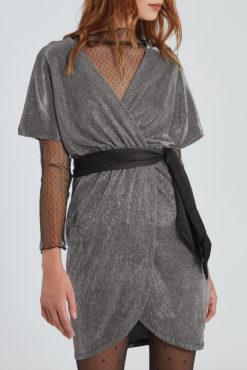 Μεταλλιζέ κρουαζέ φόρεμα
