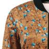 Βελουτέ εμπριμέ jacket μουσταρδί