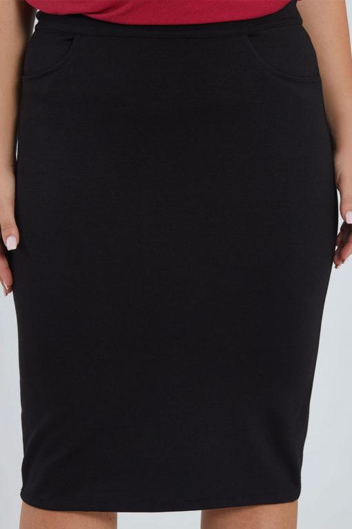 Midi φούστα μαύρη