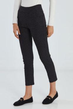 Πουά παντελόνι plus size μαύρο