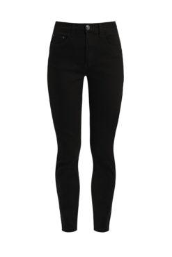 Ψηλόμεσο παντελόνι με τσέπες μαύρο