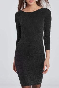 Mini μεταλλιζέ φόρεμα