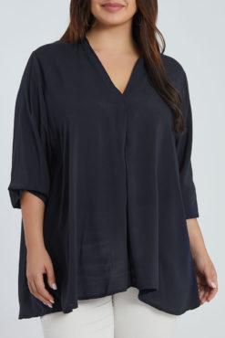 Μακριά μπλούζα με V λαιμόκοψη