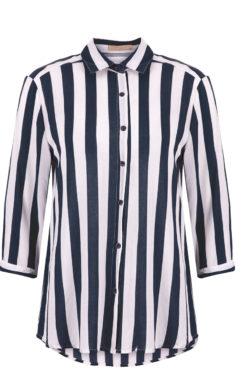 Ριγέ πουκάμισο άσπρο-μπλε