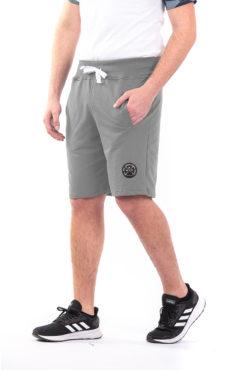 Βερμούδα φούτερ με φερμουάρ στην πίσω τσέπη γκρι