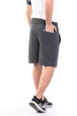 Βερμούδα φούτερ με φερμουάρ στην πίσω τσέπη ποντικί