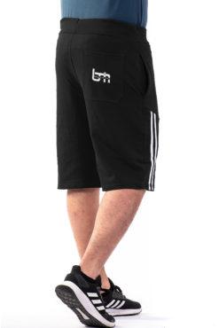 Βερμούδα φούτερ με ρίγες μαύρο