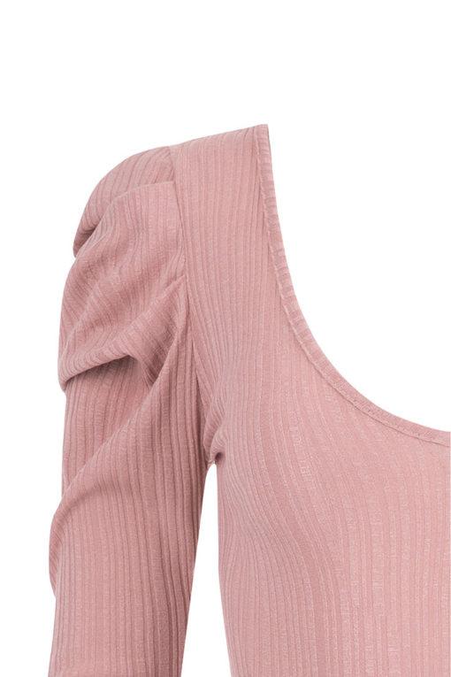 Κορμάκι με μανίκι με όγκο ροζ