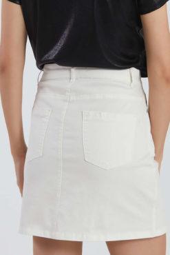 Μίνι φούστα με τσέπες εκρού