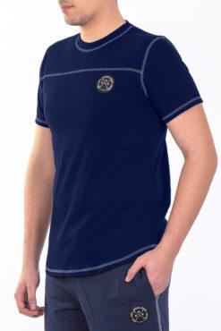 Μπλούζα με διακοσμητικές ραφές μπλε