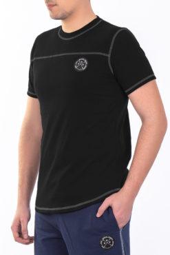Μπλούζα με διακοσμητικές ραφές μαύρη