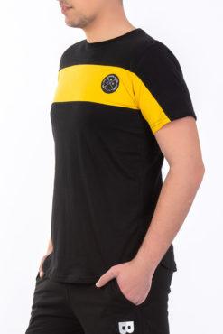 Μπλούζα μακό δίχρωμη (μαύρο-κίτρινο)