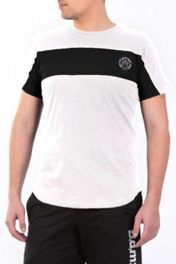 Μπλούζα μακό δίχρωμη (λευκό-μαύρο)