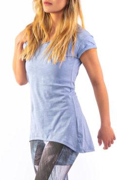 Μπλούζα φλάμα ασύμμετρη γαλάζια