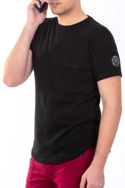 Μπλούζα μακό με τσεπάκι στο στήθος και σήμα υφαντό στο μανίκι