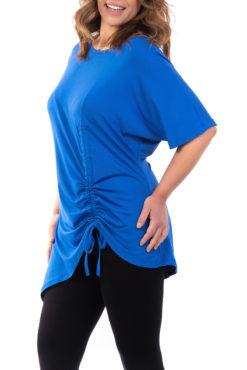 Μπλουζοφόρεμα με κορδόνι που σουρώνει στο τελείωμα