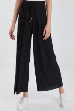Πλισέ παντελόνα με ελαστική μέση