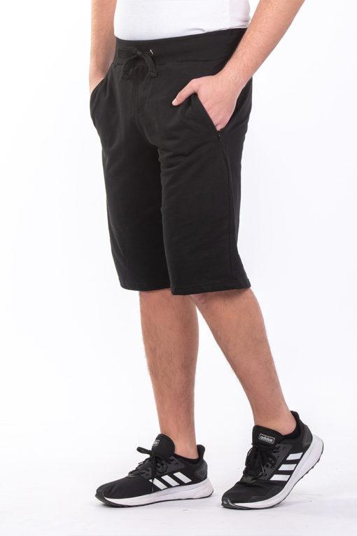 Βερμούδα φούτερ με φερμουάρ στις τσέπες