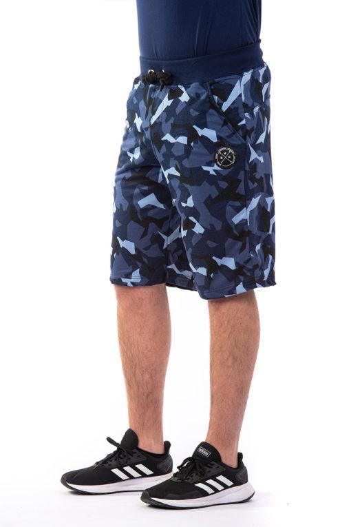Βερμούδα φούτερ με σχέδιο παραλλαγής μπλε