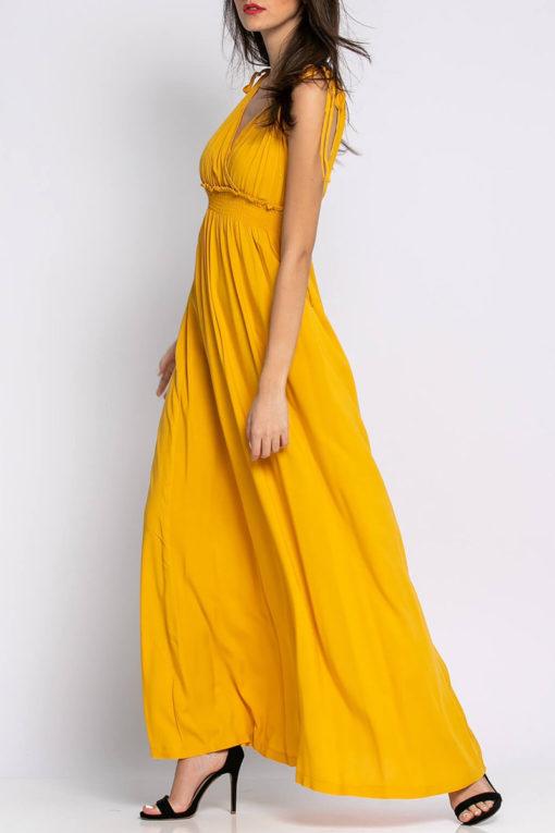 Φόρεμα αμάνικο μάξι βισκόζ