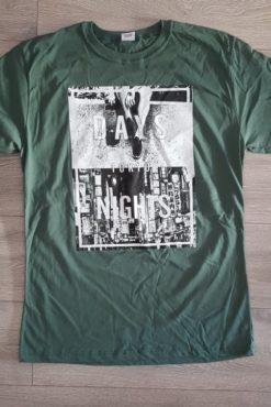 """Μπλούζα με τύπωμα """"Days Nights Tokyo"""" πράσινη"""