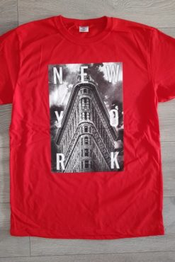 """Μπλούζα με τύπωμα """"New York"""" κόκκινη"""