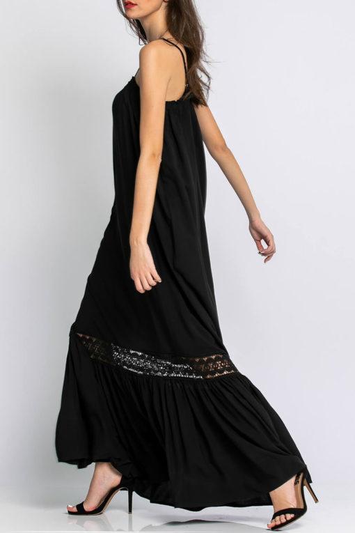 Φόρεμα μάξι με σχέδιο από δαντέλα