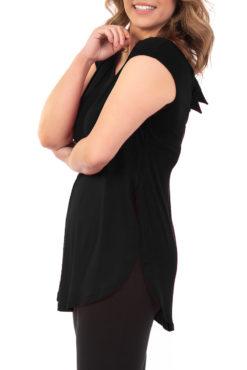Μπλούζα αμάνικη με δέσιμο στην πλάτη μαύρη