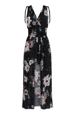Floral ολόσωμη φόρμα-φόρεμα