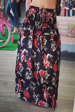 Floral φούστα-φόρεμα