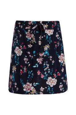 Βαμβακερή floral φούστα σε μπλε σκούρο