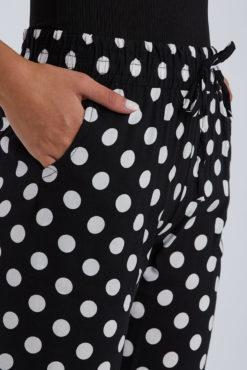 Πουά παντελόνι μαύρο