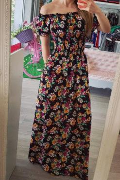 Φόρεμα μάξι με ακάλυπτους ώμους