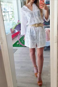 Φόρεμα βαμβακερό με κέντημα