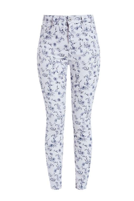 Παντελόνι με λουλούδια λευκό
