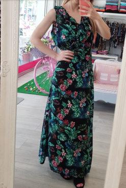 Φόρεμα maxi με βολάν