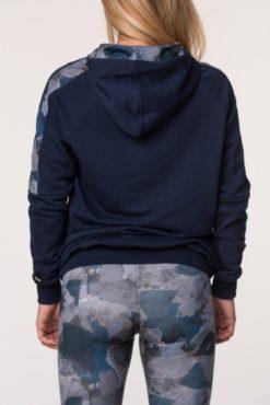 Μπλούζα φούτερ με κουκούλα δίχρωμη (μπλε-γκρι)