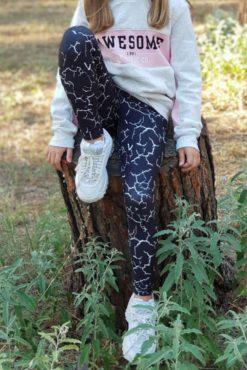 Παιδικό κολάν dry-fit εμπριμέ σε γκρι αποχρώσεις