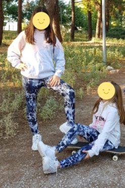 Παιδικό κολάν dry-fit εμπριμέ σε μπλε αποχρώσεις