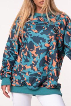 Μπλούζα φούτερ unisex σε γαλάζιες αποχρώσεις