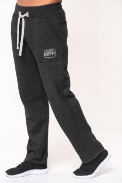Παντελόνι φόρμας φούτερ ανθρακί με στάμπα