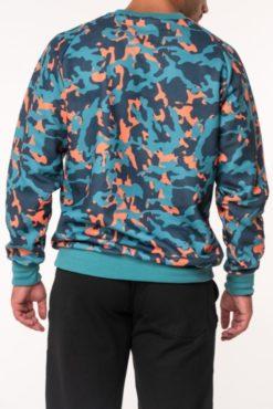 Μπλούζα φούτερ εμπριμέ σε γαλάζιες αποχρώσεις