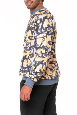 Μπλούζα φούτερ εμπριμέ σε κίτρινες αποχρώσεις