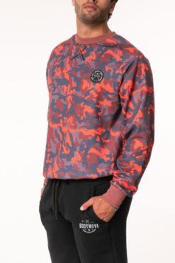 Μπλούζα φούτερ εμπριμέ σε κόκκινες αποχρώσεις
