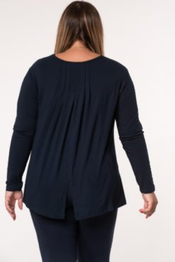 Μπλούζα βισκόζ με κουφόπιετα μπλε